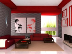Design ideas and decoration of modern living room
