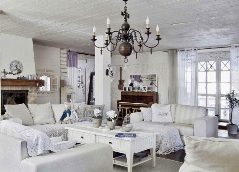 salon shabby chic moderne luxe