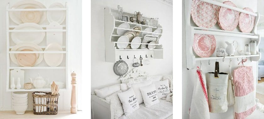Assiettes cuisine shabby chic