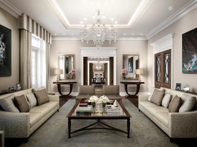 Art Deco Living Room Design And Decoration Ideas Photos
