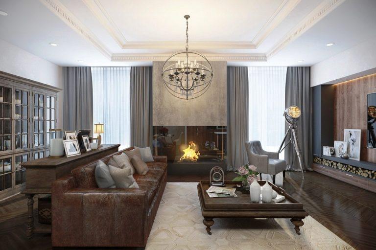 Emejing Salon Cheminee Moderne 2 Images - House Interior ...