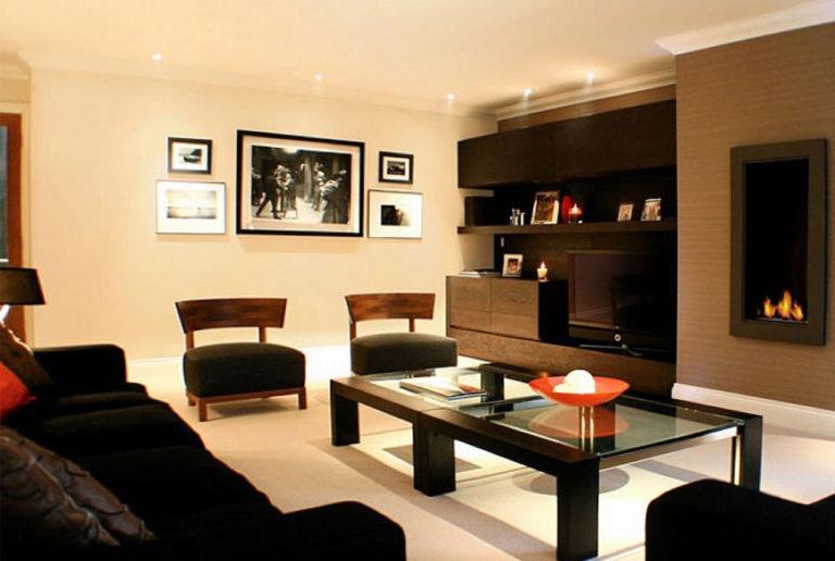 Conception & Déco de salon avec cheminée moderne