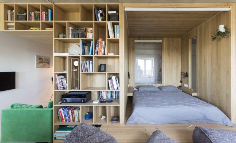 Engager fonctionnellement l'espace - Mini bibliothèque dans un appartement