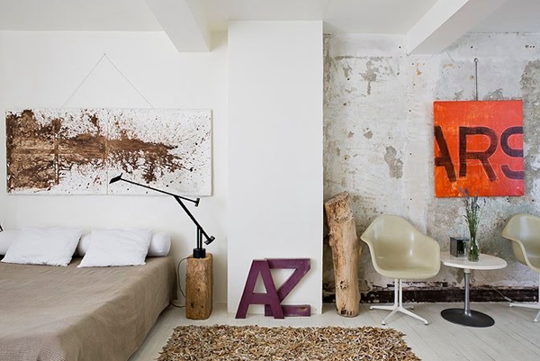 Interior decoration with decorative letters
