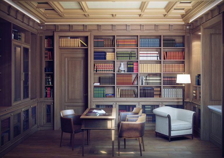Mini library in an apartment: Design ideas
