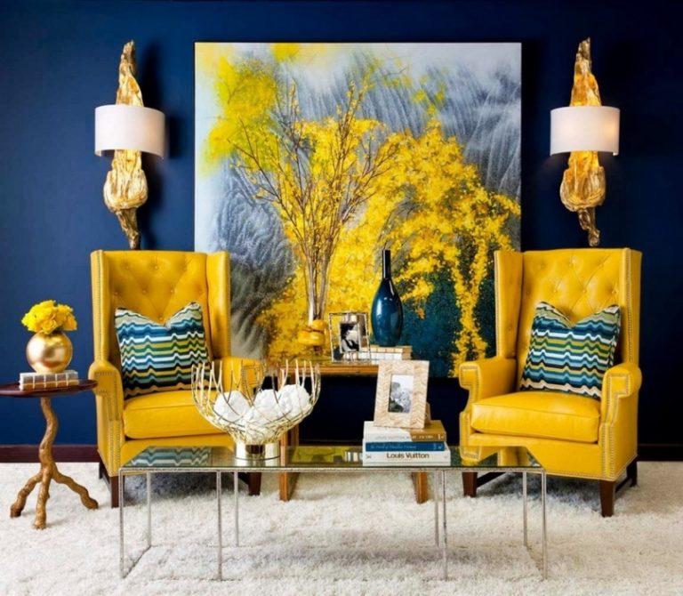 Salon de contraste avec des nuances vives de couleur pourpre