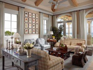 Salon rustique moderne - un esprit de tranquillité et de paix