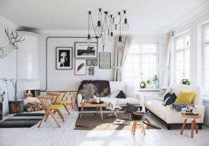 Scandinavian style living room: Design and decoration