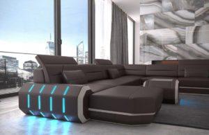 Canapé futuriste salon
