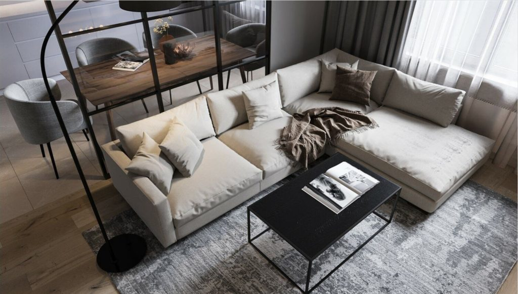 Beige living room: Design and decoration features