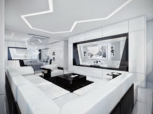 High Tech Style Living Room Design And Decoration Ideas