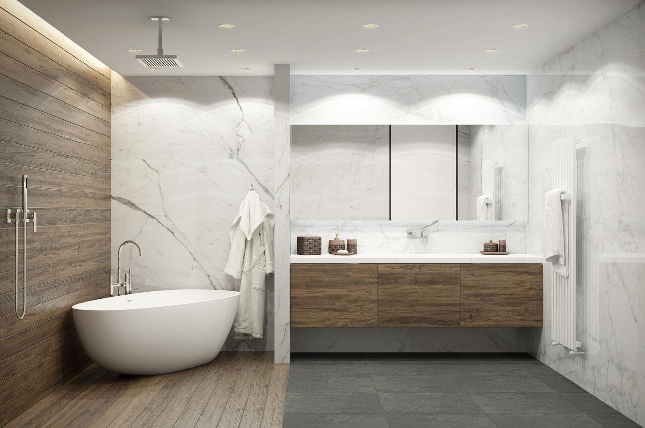 Bagno moderno: interior design e decorazioni in oltre 55 foto