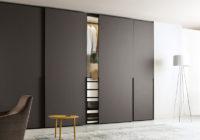 Design de salon moderne avec meuble de rangement