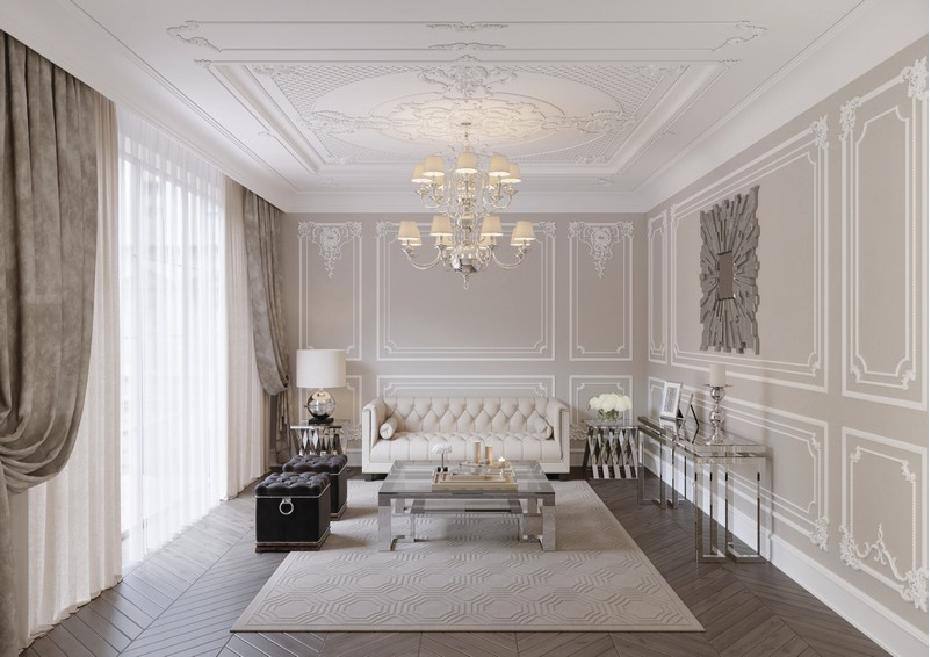Salon baroque: Conception et décoration modernes
