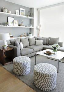 Salon gris et blanc: caractéristiques de conception et de ...