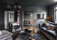 Gray living room: Interior design and decoration