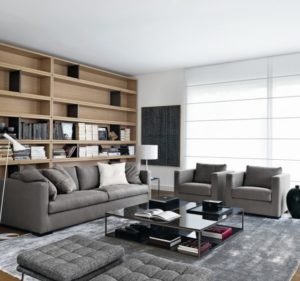 Ideas for decorating a living room in shades of gray (80+ ...