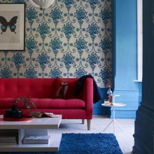 Idées pour un design de salon rouge combiné avec d\'autres ...