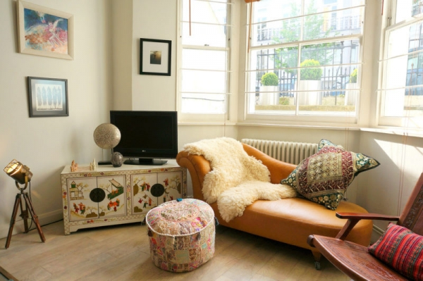 Eclectic style tv stand