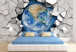 3d effect wallpaper for wall decoration