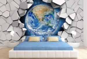 Idee di decorazione murale con carta da parati 3D