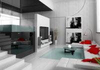 Salon contemporain: Conception et décoration