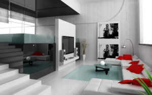 Contemporary living room: Design and decoration