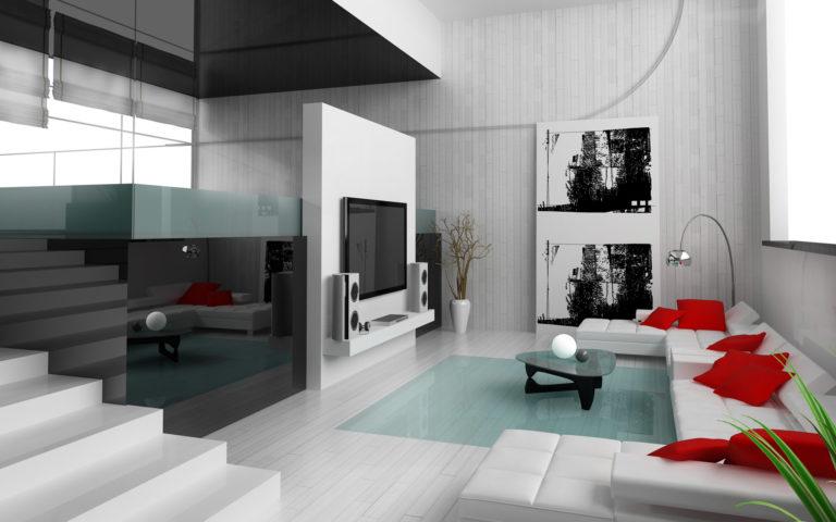 Contemporary living room: Design and decoration