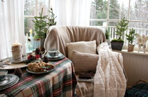 Hygge corner: Feelings of coziness and warmth