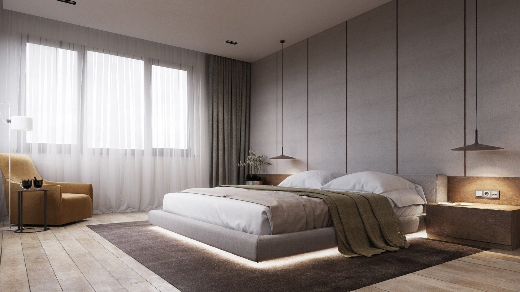 Tendances chambre à coucher 2020: idées de conception et de décoration
