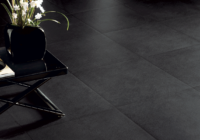 Black tiles in interior design