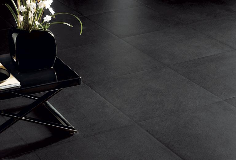 Black tiles in interior design