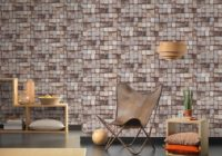 Brick wallpaper in a modern interior