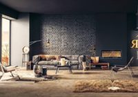 Brick wall in the living room: Design ideas
