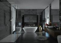 Gray bathroom: design and decoration ideas