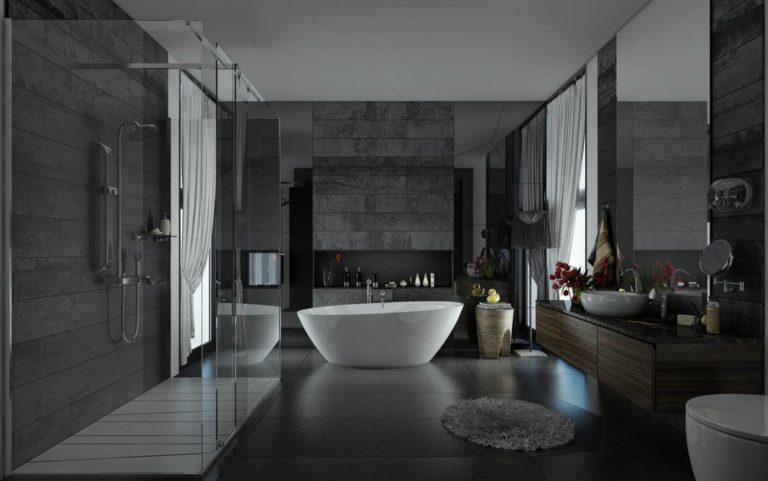 Gray bathroom: design and decoration ideas
