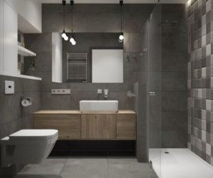 Bathroom Design In Gray Tones 75