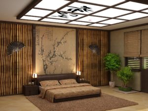 Papier peint de style japonais pour la décoration murale