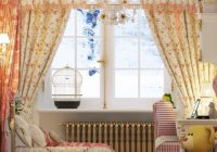 Shabby chic curtains: romance and elegance