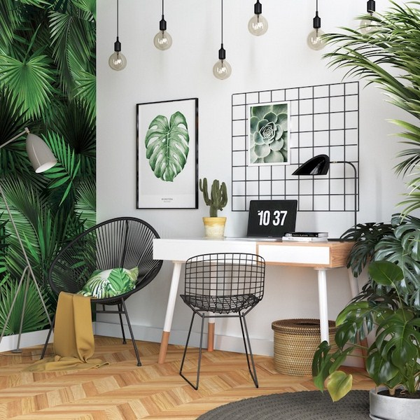 The best ideas for designing the work-space at home and the trends of 2020