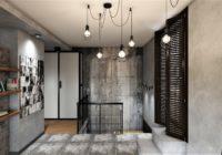 Industrial lighting fixtures for loft interiors