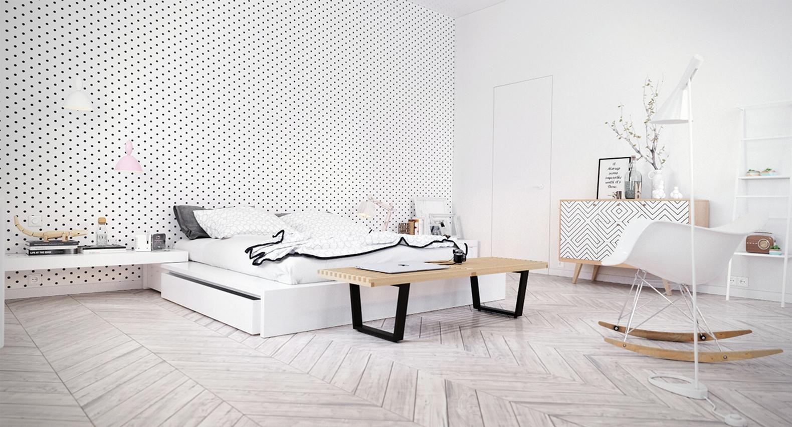 Scandinavian-style wallpapers: ideas for wall decoration