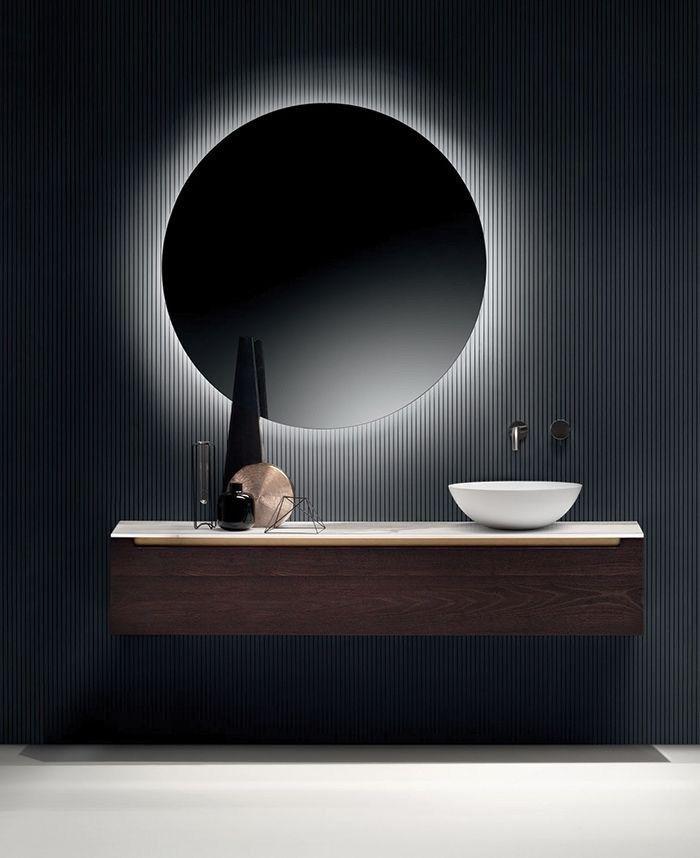 Miroirs dans la salle de bain: décor, types, formes, rétro-éclairage
