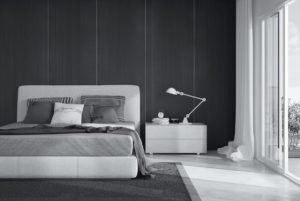Gray bedroom: ideas design and decoration