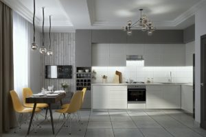 Kitchen in gray tones: ideas for design and decoration