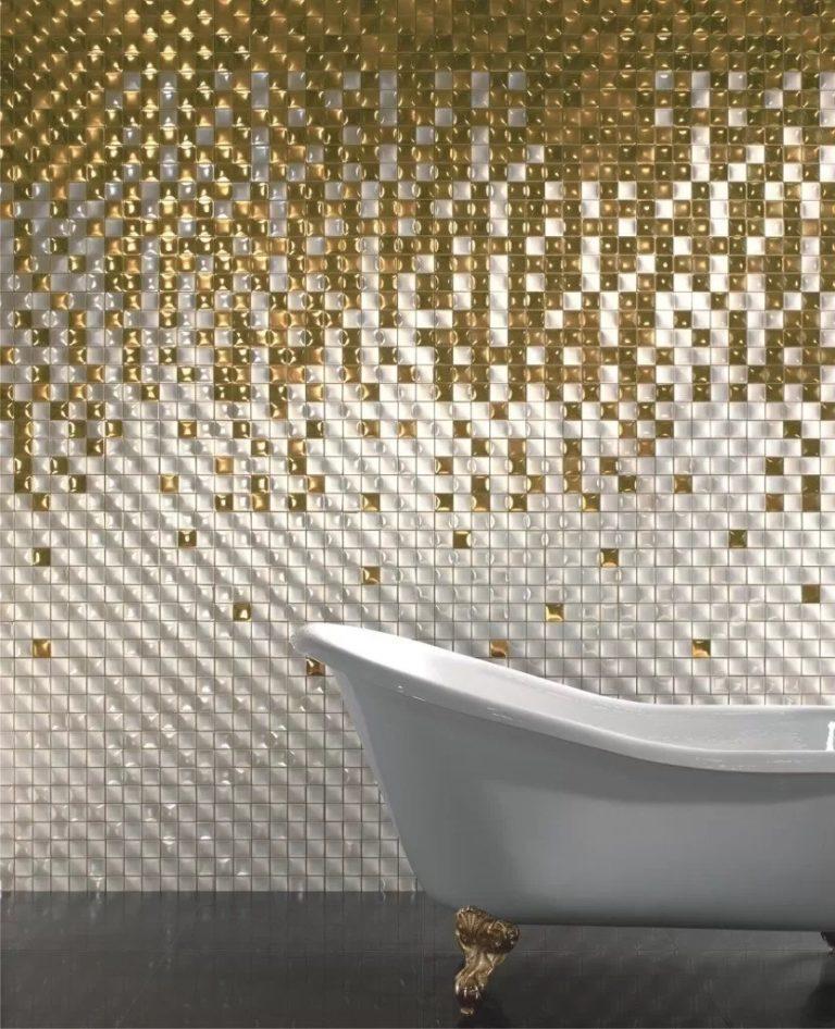 Carrelage mosaïque dans la salle de bain