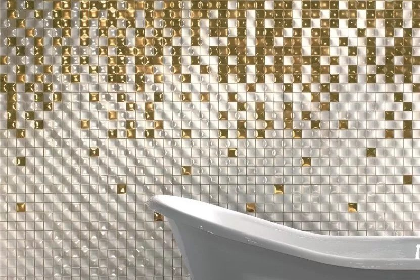 Mosaic bathroom: design, style and choices