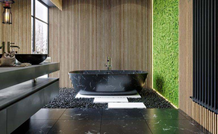 Wooden bathroom design ideas