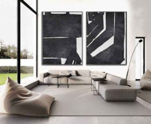 Black and white paintings for the interior – the sharpness and grace of contrast