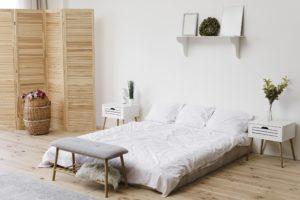 Bedroom design in the Scandinavian style